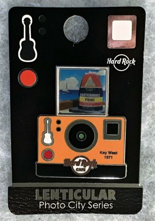 Hard Rock Cafe Key West Lenticular Camera Photo City Series Pin