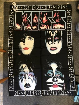 Extremely Large Kiss Textile Poster Wall Hanging Vintage Official