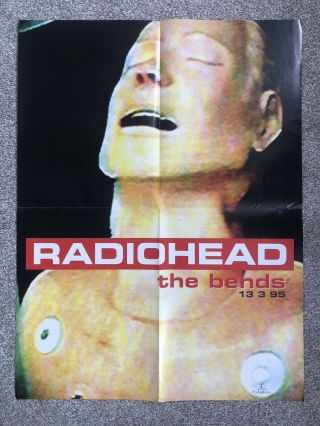 Radiohead - The Bends,  Rare Poster,  Issued On 13.  3.  95
