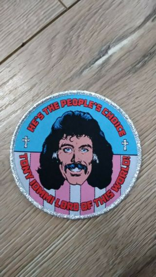 Tony Iommi Patch By Sick Textiles.  Only 5 Made Rare Black Sabbath Ozzy Osbourne