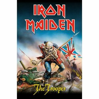 Official Licensed - Iron Maiden - The Trooper Textile Poster Flag Metal Eddie