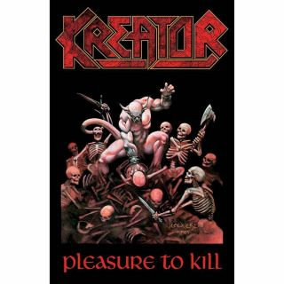 Official Licensed - Kreator - Pleasure To Kill Textile Poster Flag Thrash Metal