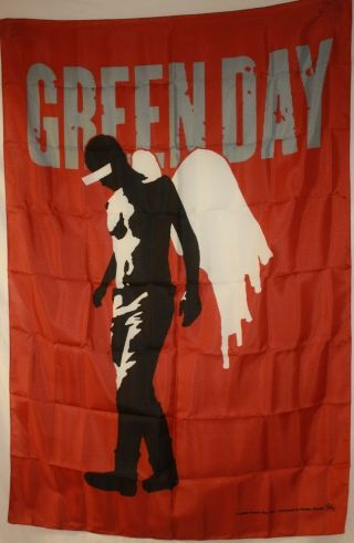 "Vintage Rare Green Day St Jimmy Cloth Textile Poster Flag Banner 30 "" X 40 """