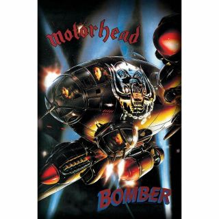 Official Licensed - Motorhead - Bomber Textile Poster Flag Metal Lemmy