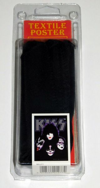 Kiss Band Faces Textile Tapestry Poster 30x40 Farewell Tour 2000 Gene Ace