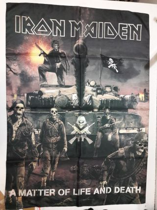 Iron Maiden Rare 2006 Textile Poster Flag A Matter Of Life And Death