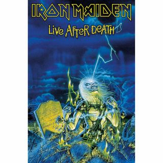 Iron Maiden Live After Death Textile Poster Official Premium Fabric Flag