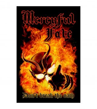 Mercyful Fate Premium Textile Poster Fabric Flag Don