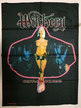 Vintage Witchery 1999 Textile Poster Flag Thrash Metal Black