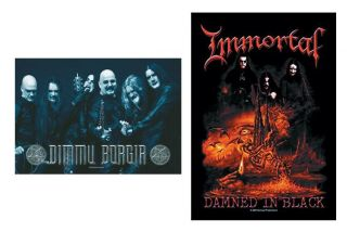 Dimmu Borgir Immortal Textile Poster Fabric Flag Black Metal Gorgoroth Cradle