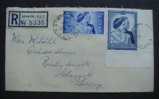 Great Britain 1948 Silver Wedding Registered First Day Cover