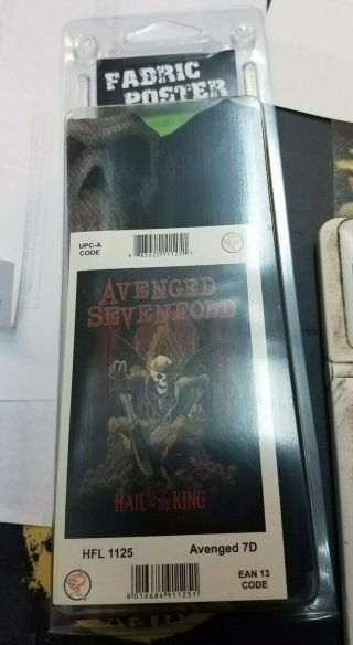 Avenged Sevefold Textile Poster Flag Rare Never Opened A7x