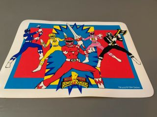 Vintage 1994 Saban Mighty Morphin Power Rangers Vinyl Placemat