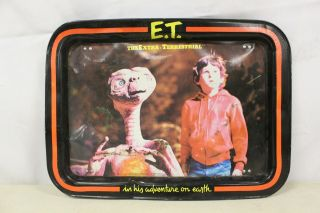 Vintage 1982 E.  T.  The Extra - Terrestrial Tv Dinner Metal Folding Tray Plate