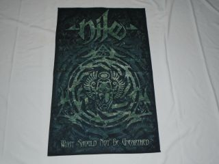 Nile What Should Not Be Unearthed Textile Flag