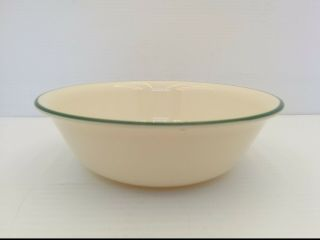 "Corelle Garden Home Soup/cereal Bowl,  Beige With Dark Green Rim,  6 - 1/4 "" Dia."