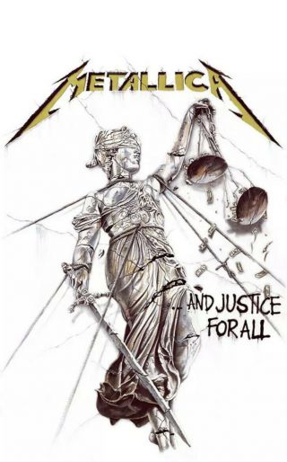 Officially Licensed - Metallica - And Justice For All Textile Poster Flag Banner