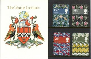 Private Presentation Pack 1982 Textile Institute