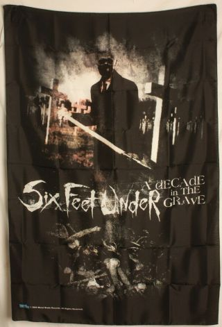 """Six Feet Under Decade In The Grave Cloth Textile Poster Flag Banner 30 """" X 40 """""""