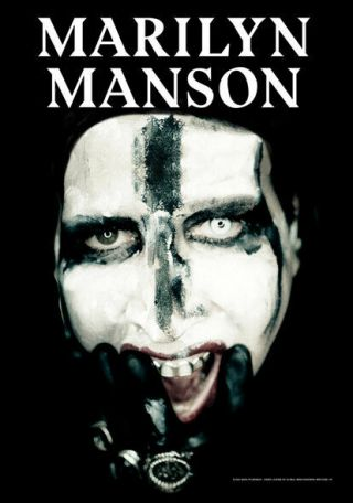 Marilyn Manson Big Face Textile Poster Fabric Flag