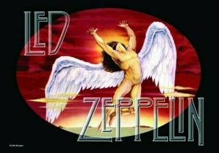 Led Zeppelin Textile Poster Fabric Flag Icarus