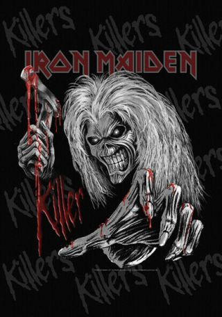 Iron Maiden Killers Grey Textile Poster Fabric Flag