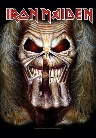 Iron Maiden Candle Finger Textile Poster Fabric Flag