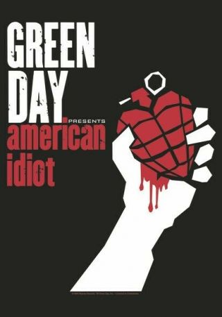 Green Day Textile Poster Fabric Flag American Idiot
