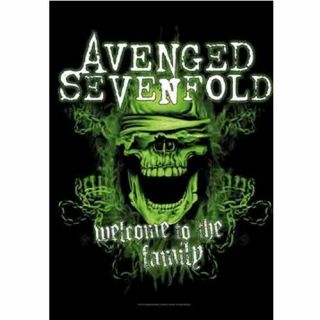Avenged Sevenfold Welcome To The Family Textile Poster Fabric Flag