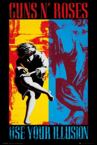 Guns N Roses Textile Poster Fabric Flag Use Your Illusion