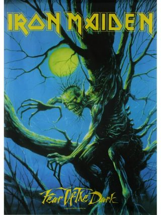 Iron Maiden Textile Poster Fabric Flag Fear Of The Dark