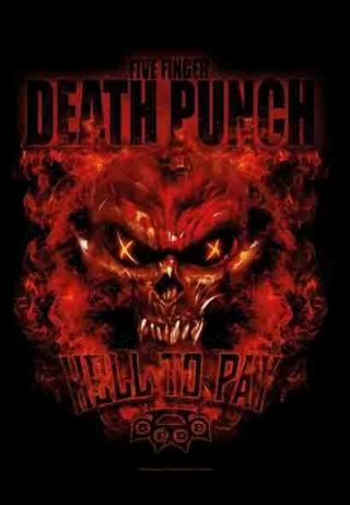Five Finger Death Punch Hell To Pay Textile Poster Fabric Flag