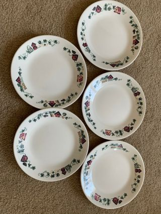 Corelle Garden Home Bread & Butter Plates Set Of 5