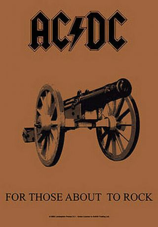 Ac/dc For Those About To Rock Textile Poster Fabric Flag