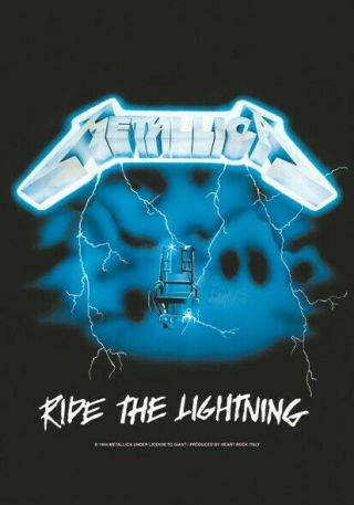 Metallica Textile Poster Fabric Flag Ride The Lightning