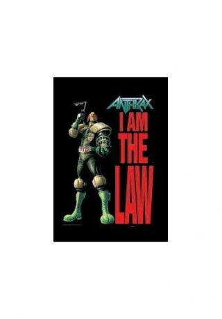 Anthrax I Am The Law Textile Poster Fabric Flag