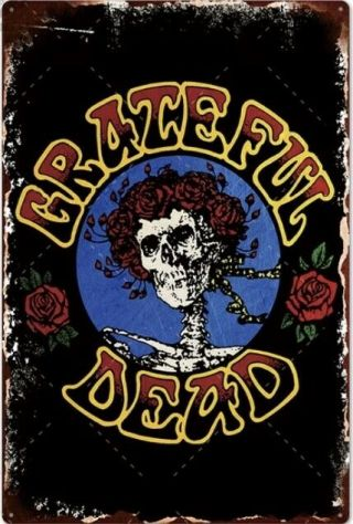 Grateful Dead Retro Tin Sign Vintage Decor Home Bar Pub Wall Art 20 X 30 Cm