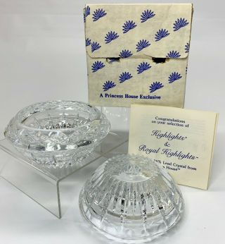 Vintage 1988 Princess House Crystal Highlights 3 - Way Candlestick Candle Holders