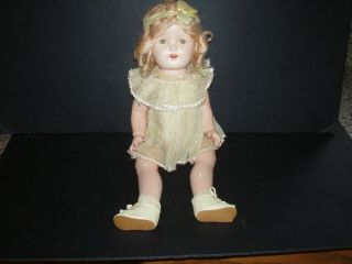 Old Ideal Vintage Composition 19 Inch Shirley Temple Doll