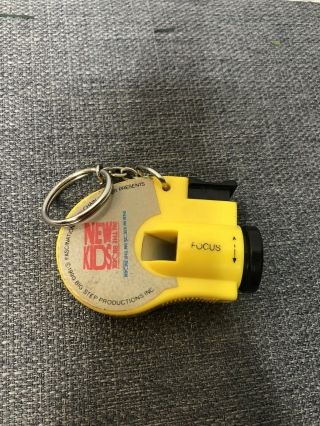 Vintage 80s Kids On The Block Camera View Finder Photo Key Chain