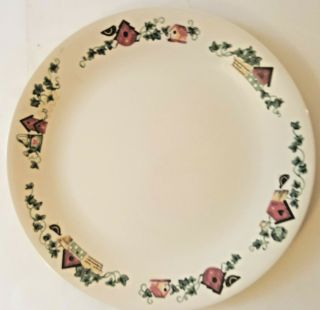 Corning Corelle Garden Home Birdhouse Dinner Plate
