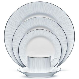 Noritake Glacier Platinum 60pc China Set,  Service For 12