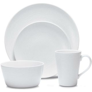 Noritake Wow Swirl Coupe 48pc Dinnerware Set,  Service For 12