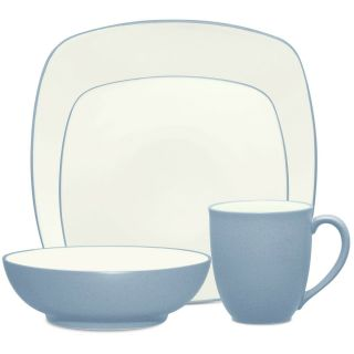Noritake Colorwave Ice Square 48pc Dinnerware Set,  Service For 12
