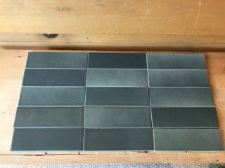 40 Vintage Heath Ceramic Tiles Sage Green Satin Finish 2 - 6""