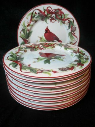Better Homes & Garden Exclusively By Home Interiors Red Cardinals Bird 9 Salad
