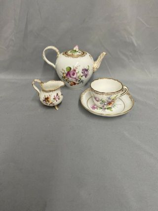 Three Piece Meissen Tea Set