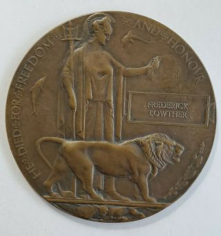 Antique 19th C Bronze Medallion Frederick Lowther