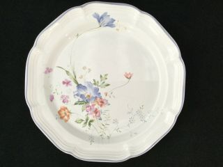Set Of 8 Mikasa French Countryside Blue Bouquet F9004 Dinner Plates - Ships