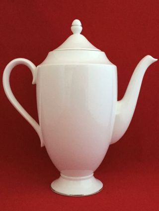 Wedgwood Signet Platinum 5 Cup Coffee Pot/ Teapot & Lid - Ships